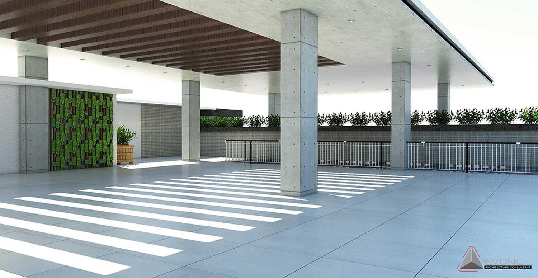 Foto inspirasi ide desain atap minimalis Lantai-atap-gbis-balikpapan oleh EVONIL Architecture di Arsitag