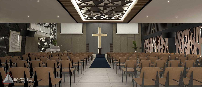 Evonil Architecture Gbis Church Balikpapan Balikpapan Balikpapan Ruang-Kebaktian-Utama-Lantai-2 Kontemporer 13098