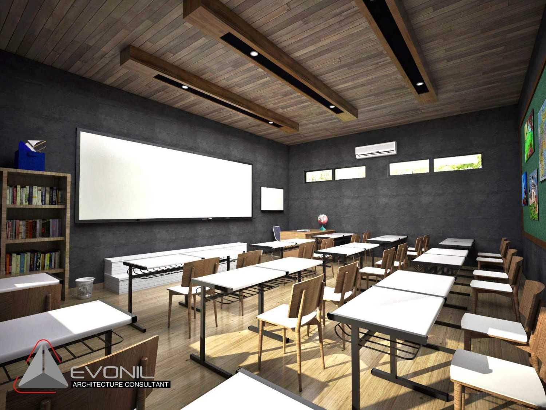 Foto inspirasi ide desain ruang belajar minimalis Ruang-kelas-view-1-1-kop oleh Evonil Architecture di Arsitag