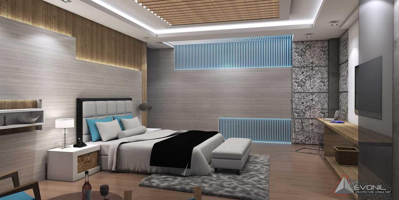 Foto inspirasi ide desain kamar tidur minimalis Bedroom oleh Evonil Architecture di Arsitag