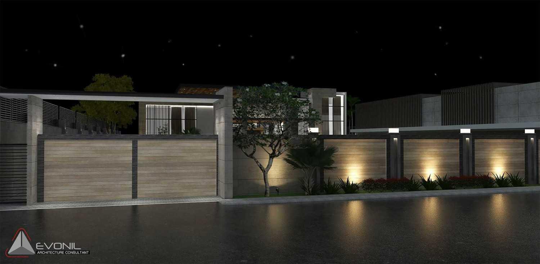 Evonil Architecture Residence Pangkalan Bun Pangkalan Bun, Kalimantan, Indonesia Pangkalan Bun, Kalimantan, Indonesia Entrance-Gate-Night-View-Residence-Pangkalan-Bun Modern 13131