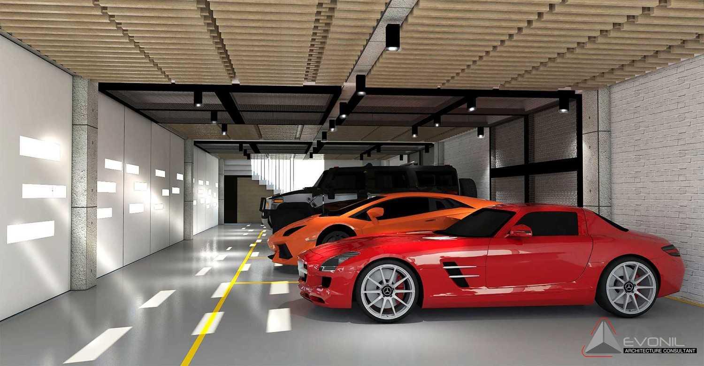 Foto inspirasi ide desain garasi modern Garage-1-residence-pangkalan-bun oleh Evonil Architecture di Arsitag