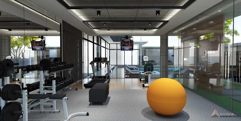 Foto inspirasi ide desain gym minimalis Gym-residence-pangkalan-bun oleh Evonil Architecture di Arsitag