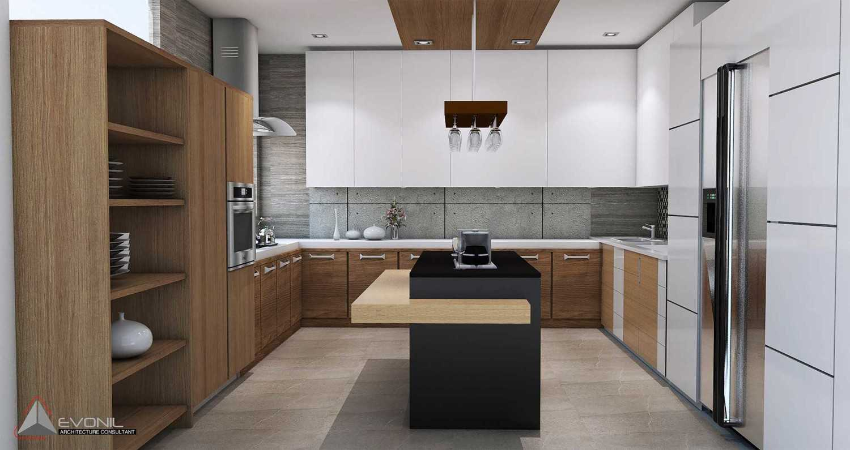 Foto inspirasi ide desain dapur modern Kitchen-1-residence-pangkalan-bun oleh Evonil Architecture di Arsitag