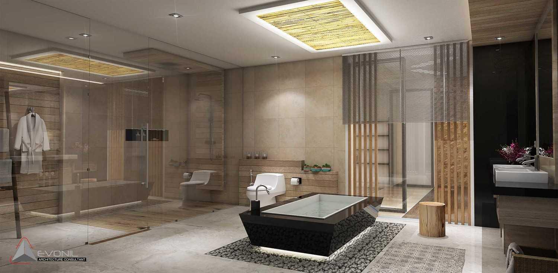 Evonil Architecture Residence Pangkalan Bun Pangkalan Bun, Kalimantan, Indonesia Pangkalan Bun, Kalimantan, Indonesia Master-Bathroom-Residence-Pangkalan-Bun Modern 13143