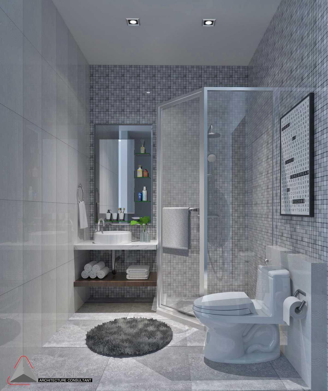 Foto inspirasi ide desain kamar mandi klasik Wc-rumah-tamu-villa-bogor oleh EVONIL Architecture di Arsitag