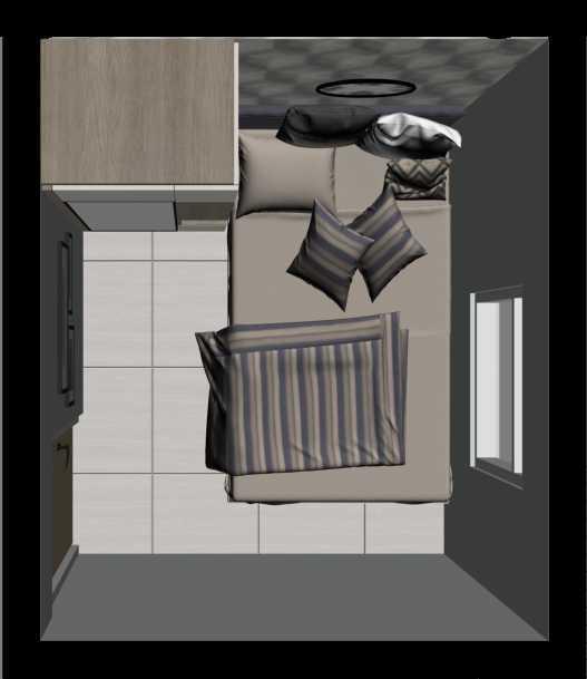 Getto Id Apartment Ayodhya 2 Br Tangerang City, Banten, Indonesia Tangerang City, Banten, Indonesia Denah-Bedroom-1 Skandinavia 33203
