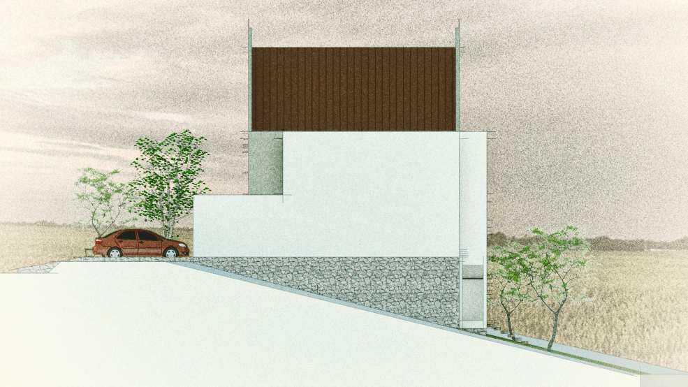 Foto inspirasi ide desain rumah modern Side view oleh arkitekt.id di Arsitag