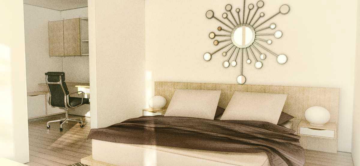 Foto inspirasi ide desain kamar tidur minimalis Bedroom oleh arkitekt.id di Arsitag