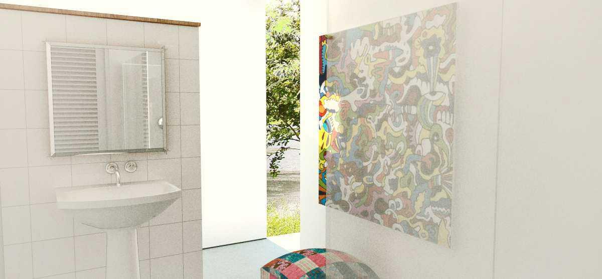 Foto inspirasi ide desain kamar mandi minimalis Bathroom oleh arkitekt.id di Arsitag