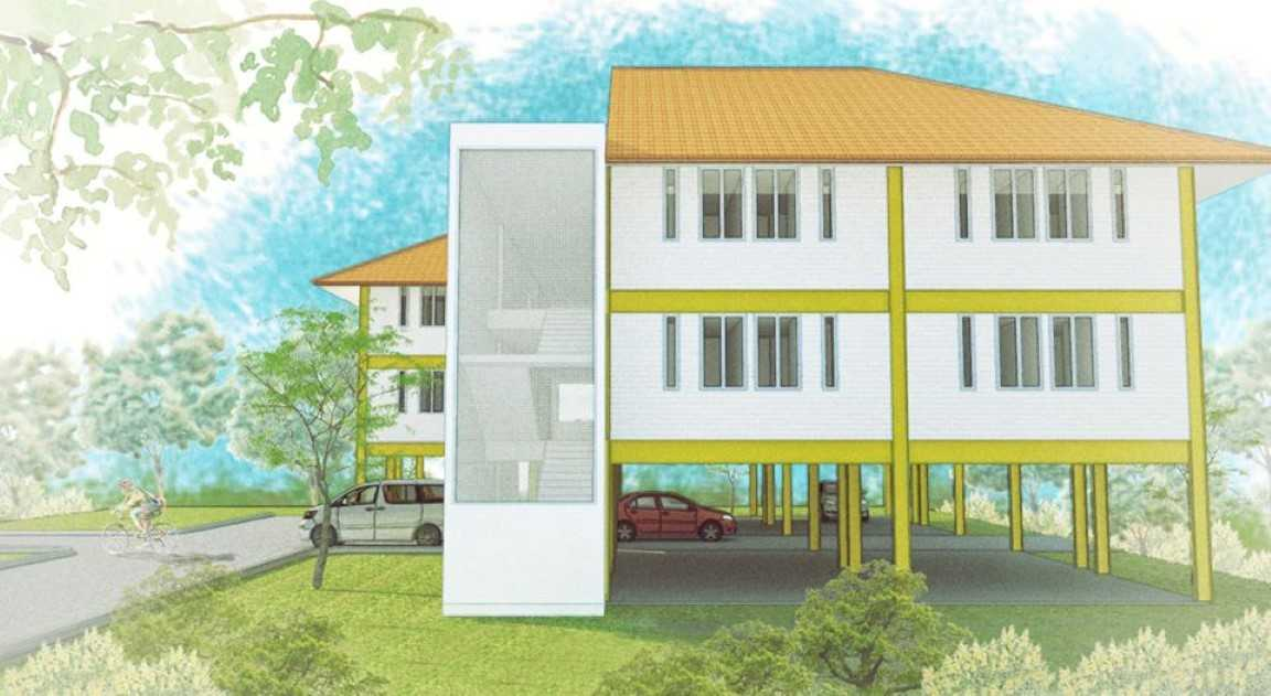 Arkitekt.id Pakuan Boarding House Bogor Bogor Right Elevation  17728