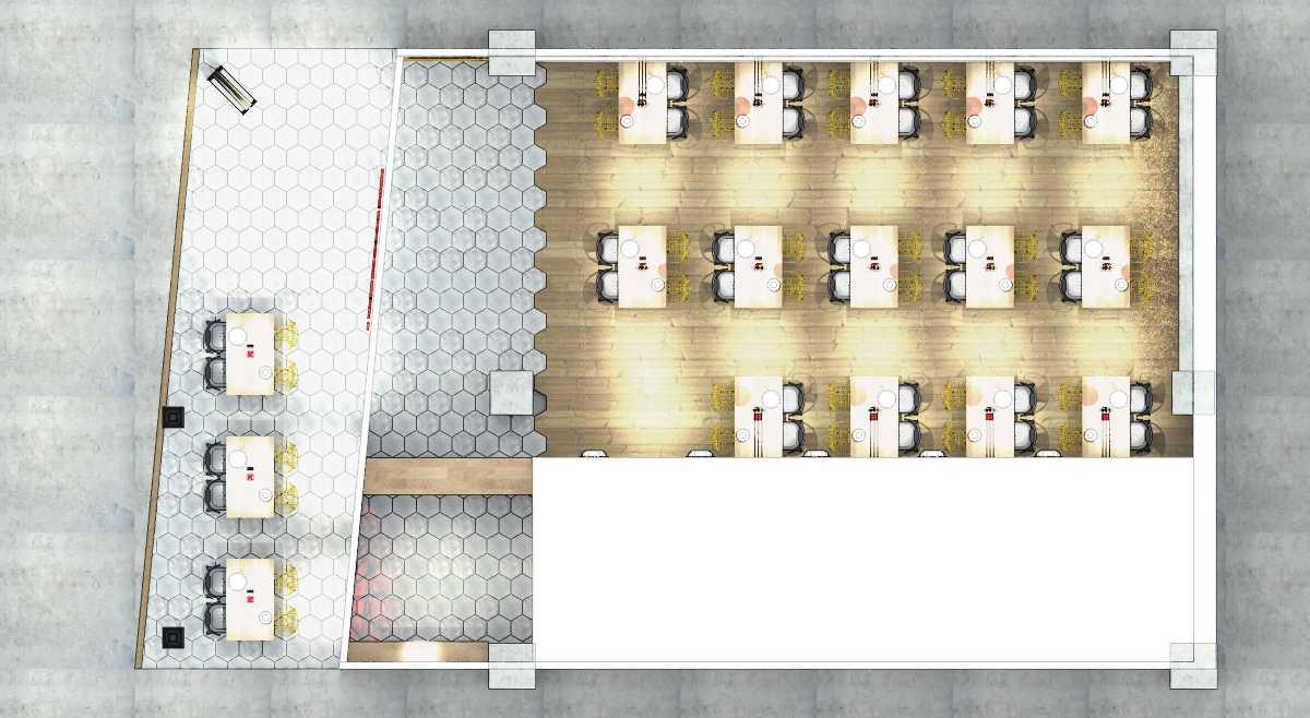 Foto inspirasi ide desain restoran asian Plan oleh arkitekt.id di Arsitag