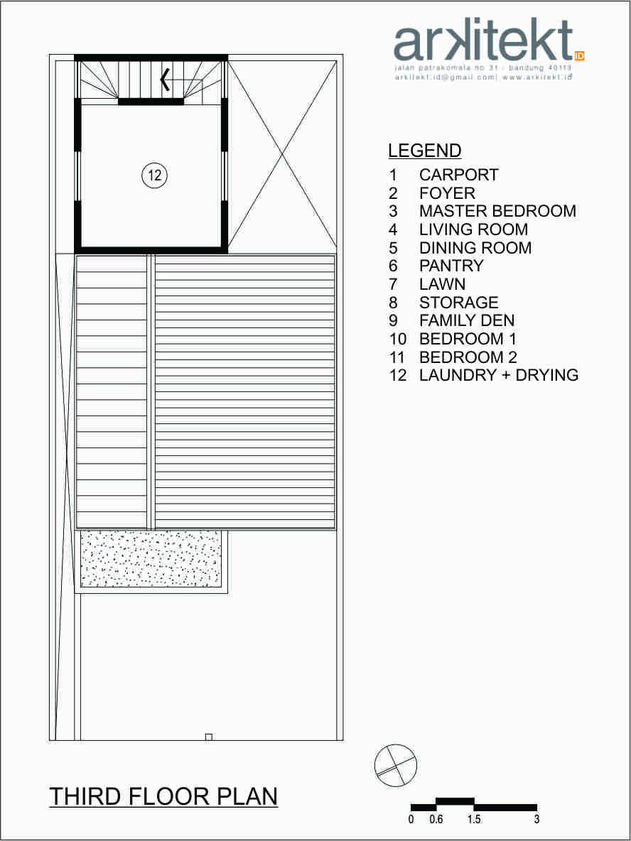 Foto inspirasi ide desain rumah Denah lantai 3 oleh arkitekt.id di Arsitag