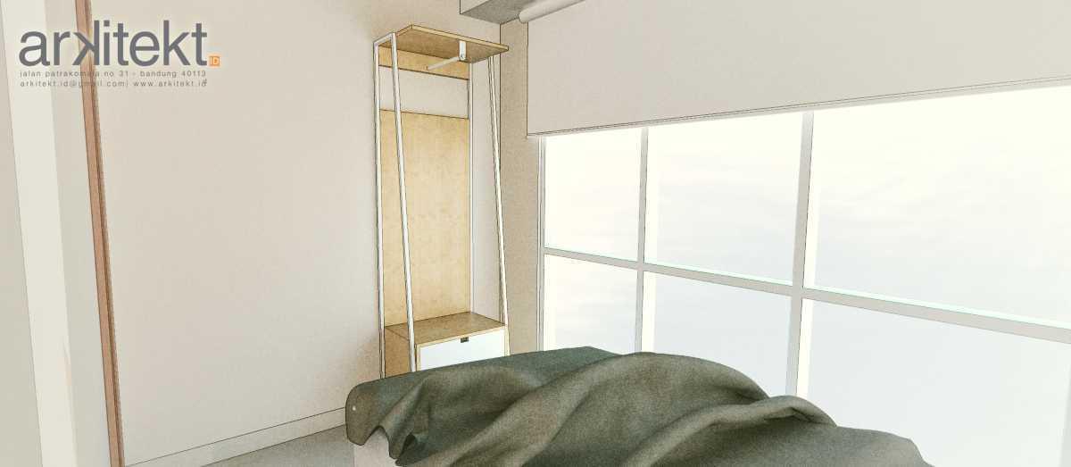 Foto inspirasi ide desain apartemen Bedroom oleh arkitekt.id di Arsitag