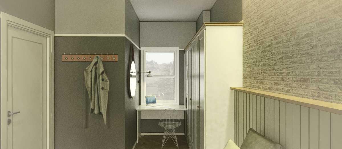 Foto inspirasi ide desain apartemen industrial Master bedroom oleh arkitekt.id di Arsitag