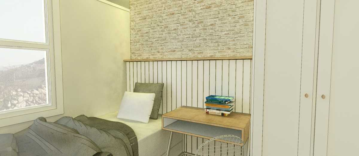 Arkitekt.id Corner Unit Apartment Parahyangan Residence, Bandung Parahyangan Residence, Bandung Bedroom Industrial 29166