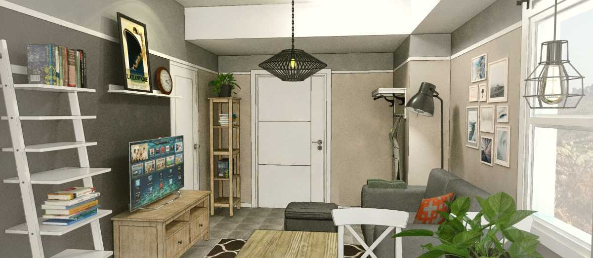Arkitekt.id Corner Unit Apartment Parahyangan Residence, Bandung Parahyangan Residence, Bandung Livingroom Industrial 29170