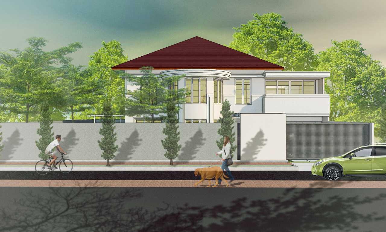 Foto inspirasi ide desain rumah modern Front view oleh arkitekt.id di Arsitag