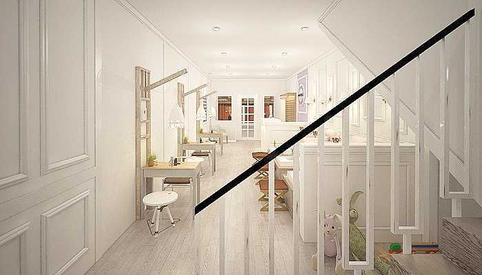 Foto inspirasi ide desain tangga klasik Stairs oleh 7Design Architect di Arsitag