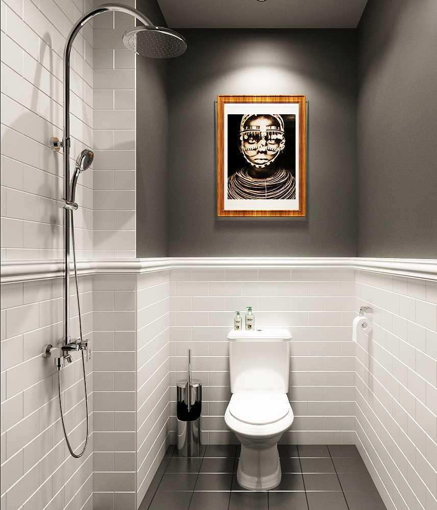 Foto inspirasi ide desain kamar mandi skandinavia Toilet-1b oleh 7Design Architect di Arsitag