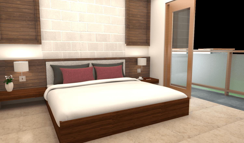Foto inspirasi ide desain kamar tidur tropis Bedroom oleh Pradhana Pande di Arsitag