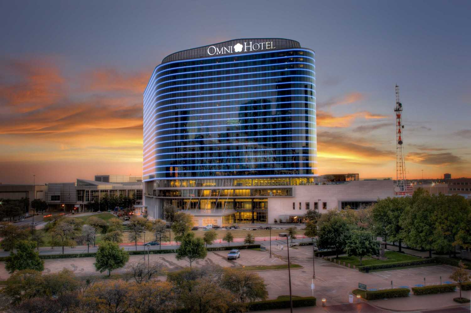 5G Studio Collaborative Omni Dallas Convention Center Hotel Dallas, Texas Dallas, Texas Front View Rendering  14957