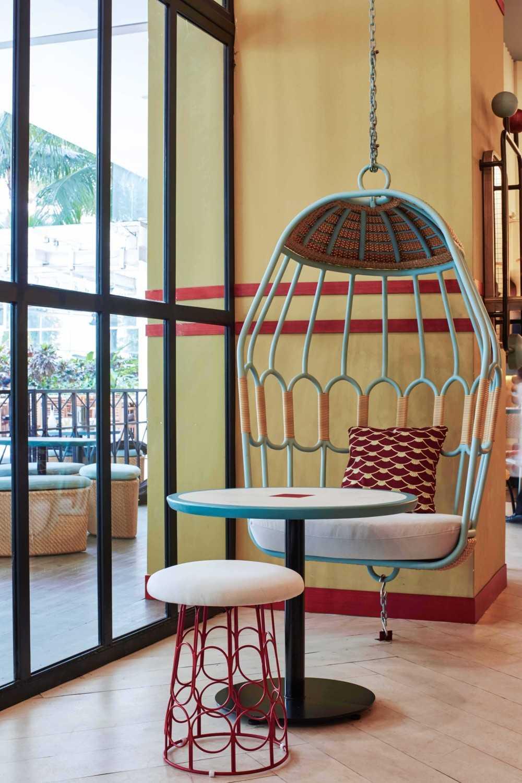 Alvin Tjitrowirjo, Alvint Studio Gyoza Bar  Tribeca - Central Park Shopping Mall  Tribeca - Central Park Shopping Mall  Hanging Chair Modern 15603