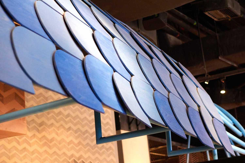 Foto inspirasi ide desain restoran kontemporer Interior detail oleh Alvin Tjitrowirjo, AlvinT Studio di Arsitag