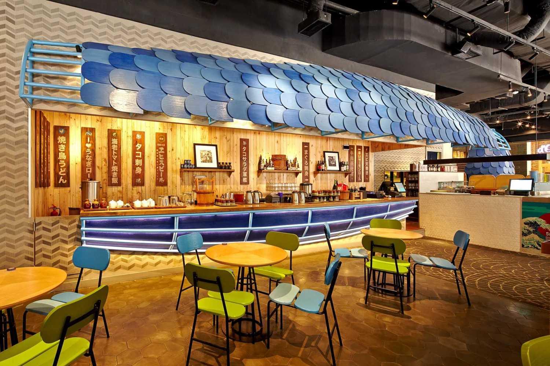 Foto inspirasi ide desain restoran modern Dining area oleh Alvin Tjitrowirjo, AlvinT Studio di Arsitag