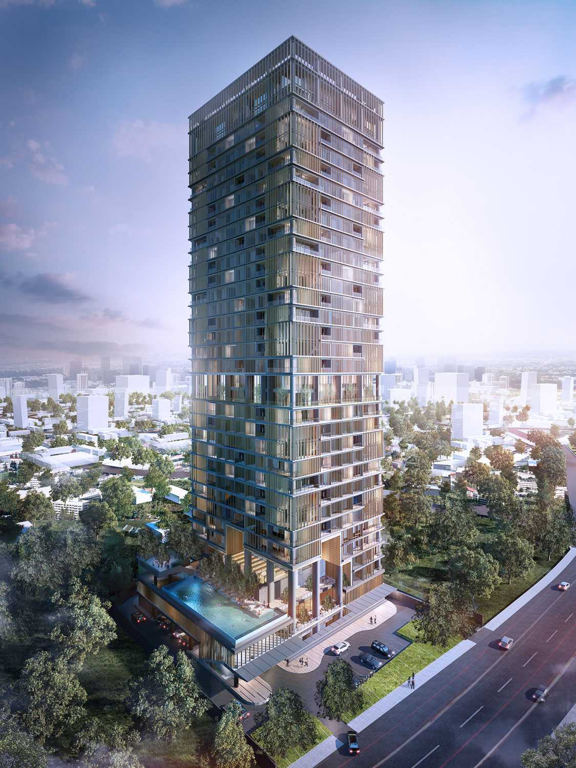 Aboday Architect Saumata Tangerang, Indonesia Tangerang, Indonesia Bird-Eye-View Kontemporer 15404