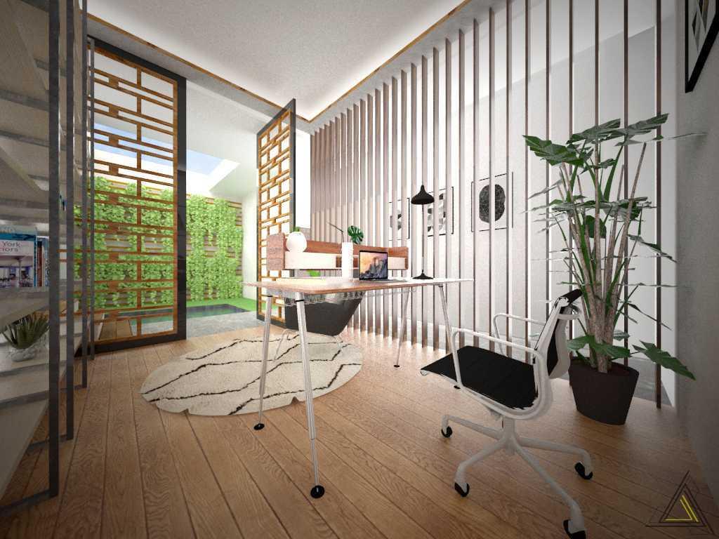 Foto inspirasi ide desain ruang belajar kontemporer Study room oleh DAP Studio di Arsitag