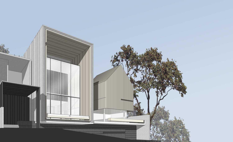 Foto inspirasi ide desain rumah industrial Exterior detail oleh eben di Arsitag