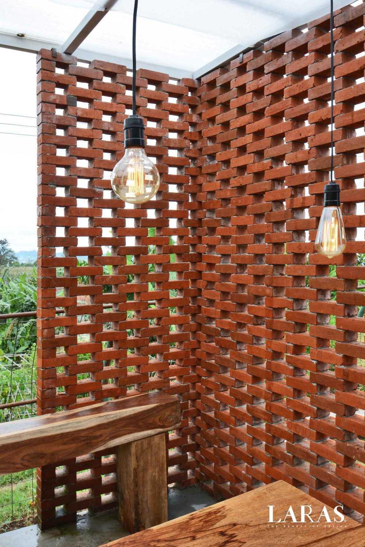 Eben White Perforated Brick House Bandung Bandung Dining Room Contemporary 29667