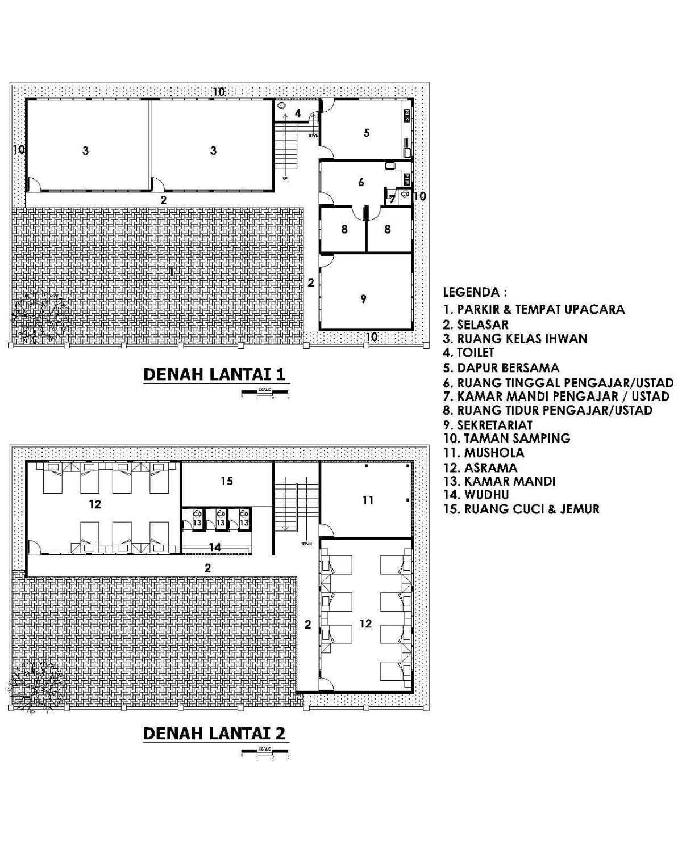 Mki Pesantren Tahfidz Al-Falah Tasikmalaya - West Java Tasikmalaya - West Java Lay Out Plan Modern 18005