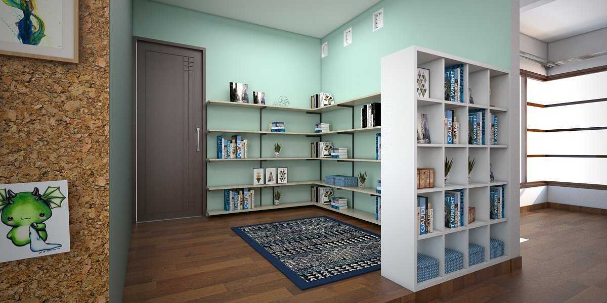 Foto inspirasi ide desain perpustakaan modern Ruang-baca-1 oleh Vivame Design di Arsitag