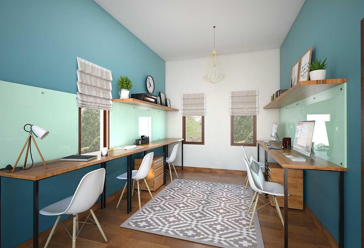 Foto inspirasi ide desain ruang belajar modern Ruang-kerja-atas-1 oleh Vivame Design di Arsitag