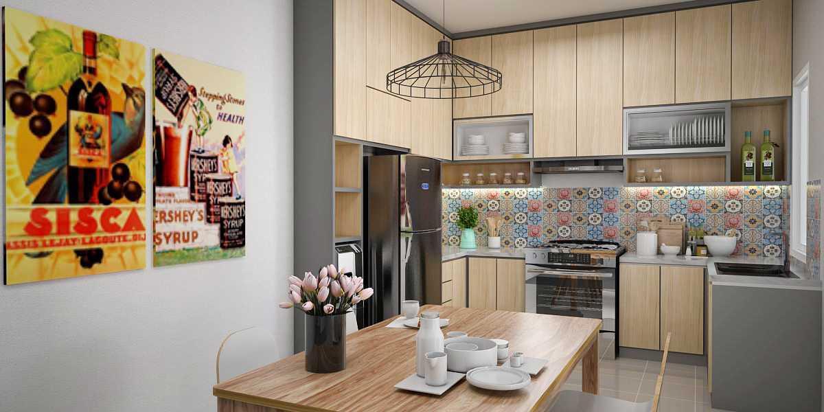 Vivame Design Simple Interior House Jakarta Jakarta Render-Dapur Modern 17326