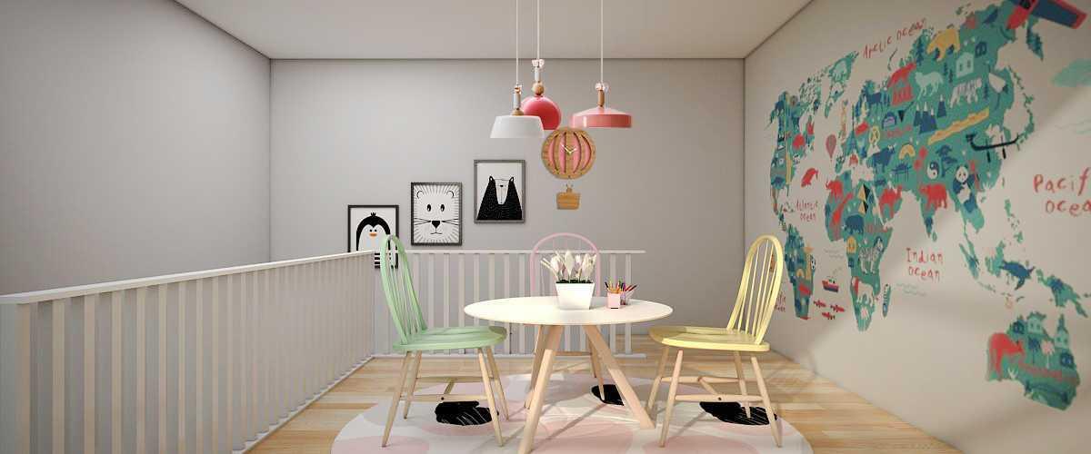 Foto inspirasi ide desain kamar tidur anak skandinavia Kamar-bermain-anak-2 oleh Vivame Design di Arsitag