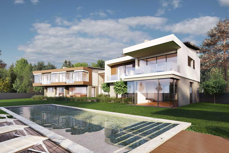 Foto inspirasi ide desain kolam kontemporer Tampak kolam renang oleh JR Design di Arsitag