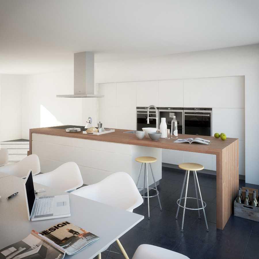 Foto inspirasi ide desain dapur minimalis Kitchen area oleh JR Design di Arsitag