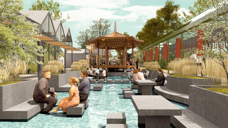 Foto inspirasi ide desain taman tradisional Seating area outdoor oleh Wandi Uwa Krisdian di Arsitag