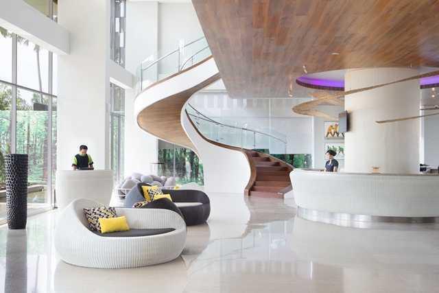 Foto inspirasi ide desain apartemen Lobby-area oleh PT. Labblu Creatif Ide di Arsitag