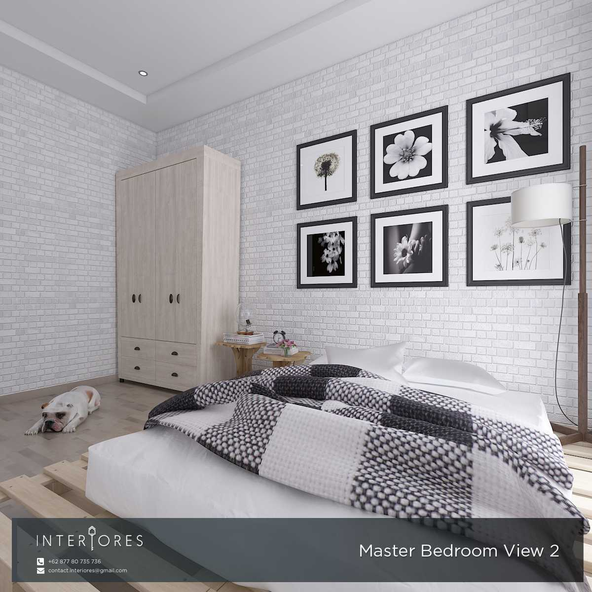 Interiores Interior Consultant & Build P. Scandi Pejaten Pejaten Master Bedroom Modern,skandinavia 17957