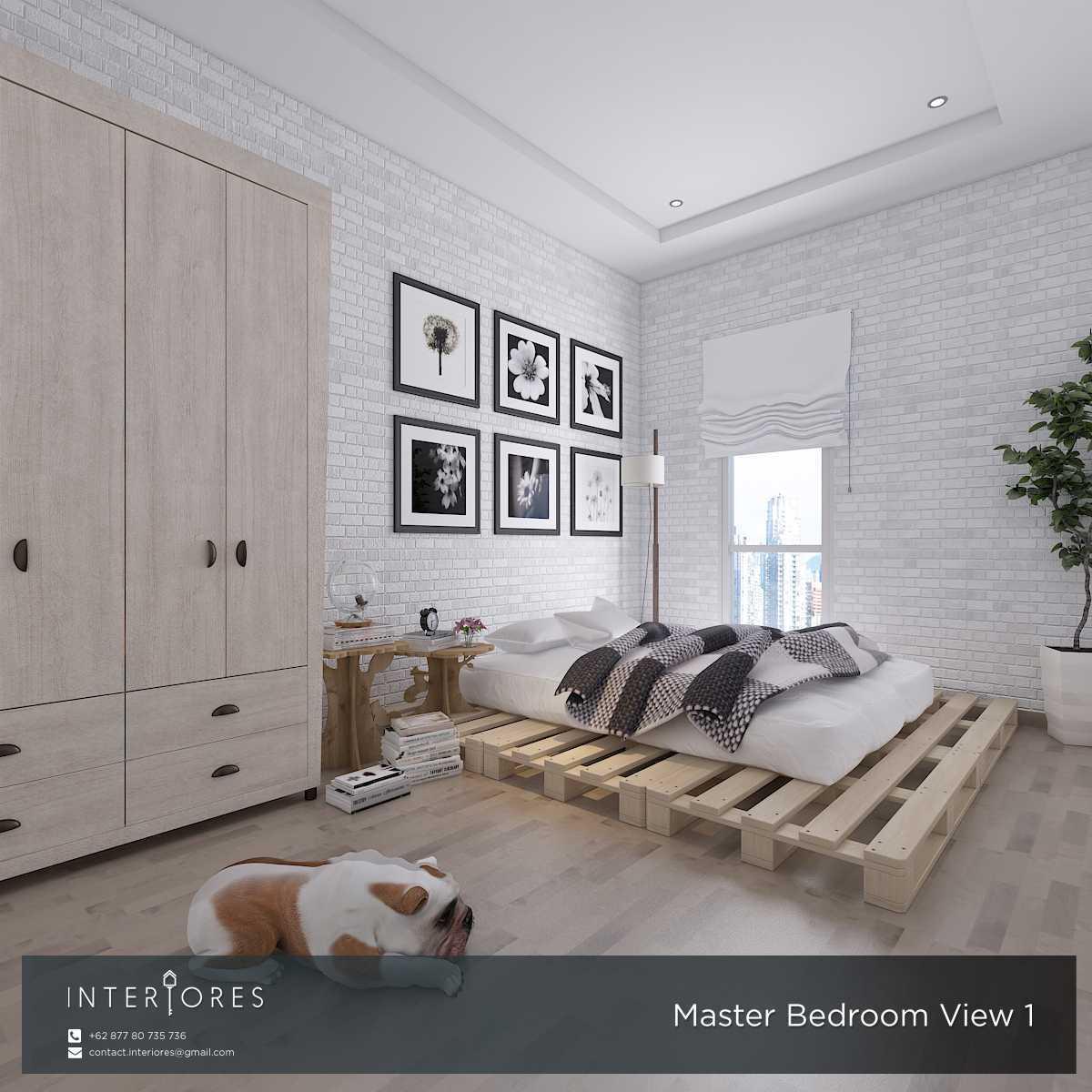 Interiores Interior Consultant & Build P. Scandi Pejaten Pejaten Master Bedroom Modern,skandinavia 17958
