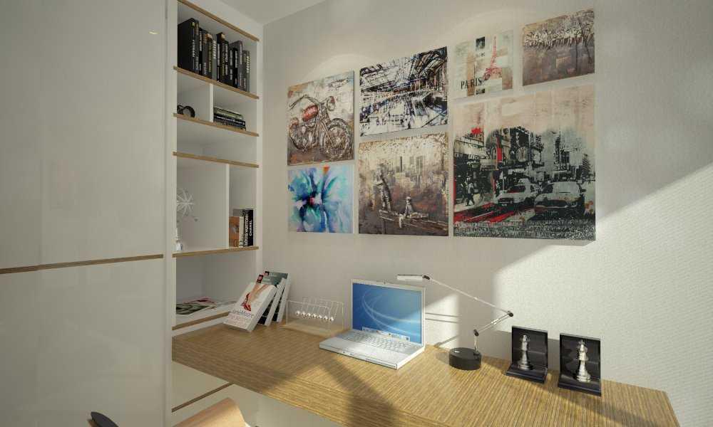 Foto inspirasi ide desain ruang belajar minimalis V4-2nd-bedroom oleh letare Sitompul di Arsitag