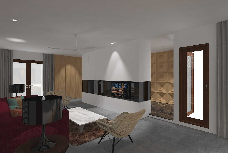 E'architect (Emil Yusman) Desain Interior Rumah Riscon Hills Jl. Bambu Hitam No.76, Rt.4/rw.1, Cipayung, Kota Jakarta Timur, Daerah Khusus Ibukota Jakarta 13840, Indonesia East Jakarta Living-Room- Modern 20165