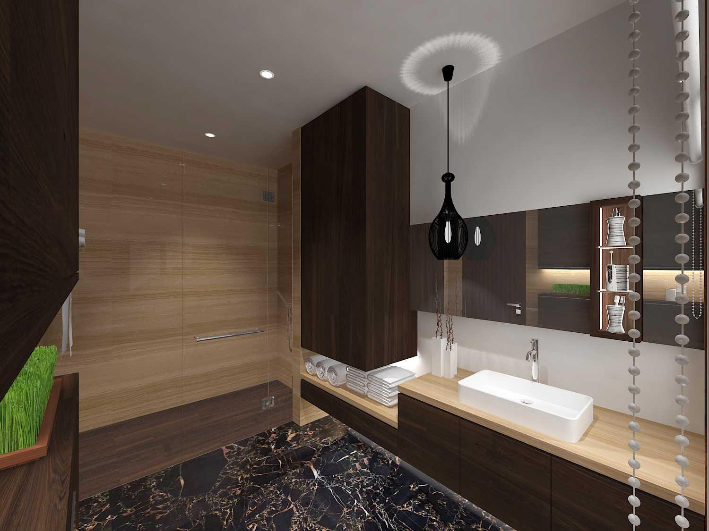 E'architect (Emil Yusman) Desain Interior Rumah Riscon Hills Jl. Bambu Hitam No.76, Rt.4/rw.1, Cipayung, Kota Jakarta Timur, Daerah Khusus Ibukota Jakarta 13840, Indonesia East Jakarta Master-Bathroom- Modern 20175