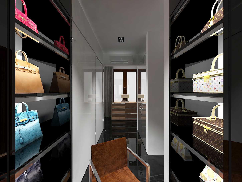 E'architect (Emil Yusman) Desain Interior Rumah Riscon Hills Jl. Bambu Hitam No.76, Rt.4/rw.1, Cipayung, Kota Jakarta Timur, Daerah Khusus Ibukota Jakarta 13840, Indonesia East Jakarta Walk-In-Closet Modern 20180