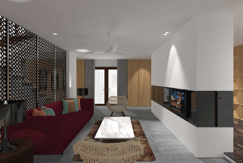 E'architect (Emil Yusman) Desain Interior Rumah Riscon Hills Jl. Bambu Hitam No.76, Rt.4/rw.1, Cipayung, Kota Jakarta Timur, Daerah Khusus Ibukota Jakarta 13840, Indonesia East Jakarta Living-Room- Modern 34042