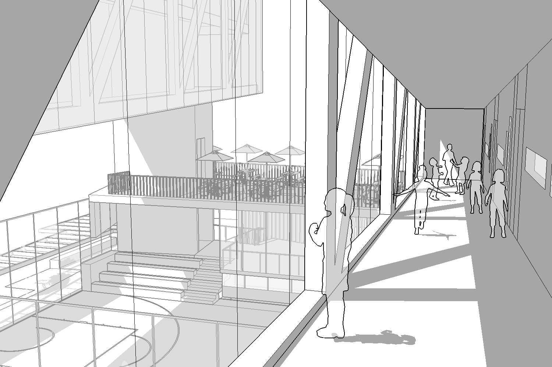 Foto inspirasi ide desain koridor dan lorong tropis Corridor oleh i n s p i r a t i o di Arsitag